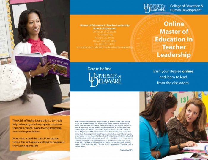 Communication Guidelines College Of Education Human Development - Hp tri fold brochure template